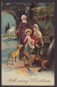 A Merry Christmas,Nativity Postcard