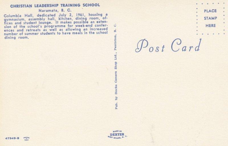 NARAMATA , B.C.,1950-60s ; Christian Leadership Training School