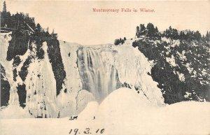 br105721 winter montmorency falls quebec canada