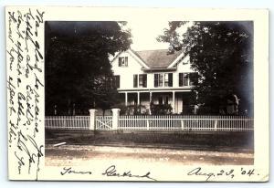 Postcard NY LI Long Island Huntington Harbor Vacation House 1904 RPPC Photo A01