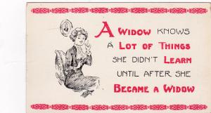 AS: 1901-07; A Widow knows alot of things she didn't learn until after widowhood