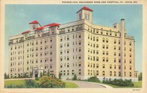 Postcard Evangelical Deaconess Home and Hospital St Louis Missouri