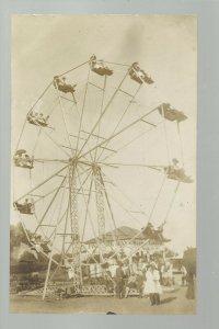 Murray NEBRASKA RP c1910 FERRIS WHEEL Carnival nr Omaha Lincoln Nebraska City