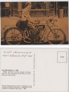 Mailman on Motorcycle, 100 Anniversary (1992), Lakewood NH