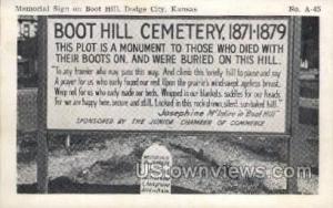 Boot Hill Cemetery Dodge City KS Unused