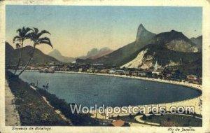 Enseada de Botafogo Rio De Janeiro Brazil 1915 Missing Stamp