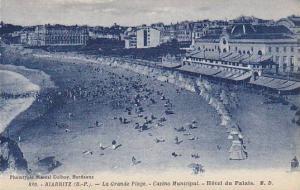 France Biarritz La Grand Plage Casino Municipal Hotel du Palais