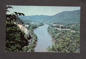 NC French Broad River Suicide Point Hot Springs North Carolina Postcard