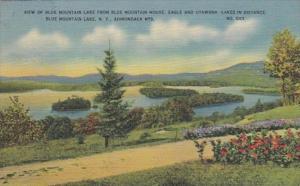 New York Adirondack Mountains Blue Mountain Lake 1952