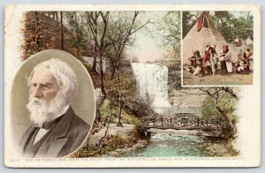 Minneapolis MN~Minnehaha Falls~Longfellow Pic~Indians Teepee~1910 Detroit Pub Co