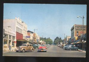 UPLAND CALIFORNIA DOWNTOWN STREET SCENE 1950's CARS VINTAGE POSTCARD STORES