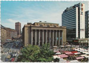 Stockholm, Hotorget och Konserthuset, Hotorget and the Concert Hall, Postcard