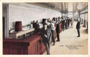 Tijuana Mexico Beer Hall Bar Interior Antique Postcard K29553