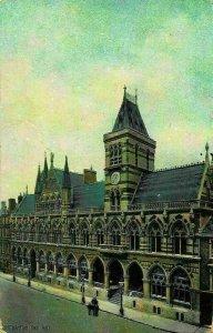 Northampton Town Hall Clock Street Postcard