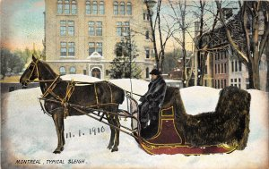 br105479 typical sleigh montreal canada winter