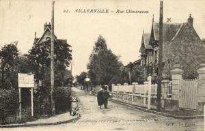 CPA VILLERVILLE - Rue Clémenceau (141362)
