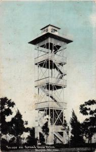 Peoria Illinois birds eye view tower on Grand View Dr antique pc Z25621