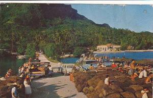 At Bora Bora's Wharf, Tahiti, 40-60s