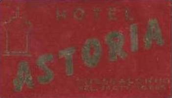 GREECE THESSALONIKI HOTEL ASTORIA VINTAGE LUGGAGE LABEL