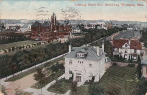 WINNIPEG, Manitoba, Canada, PU-1912; Looking North From Broadway