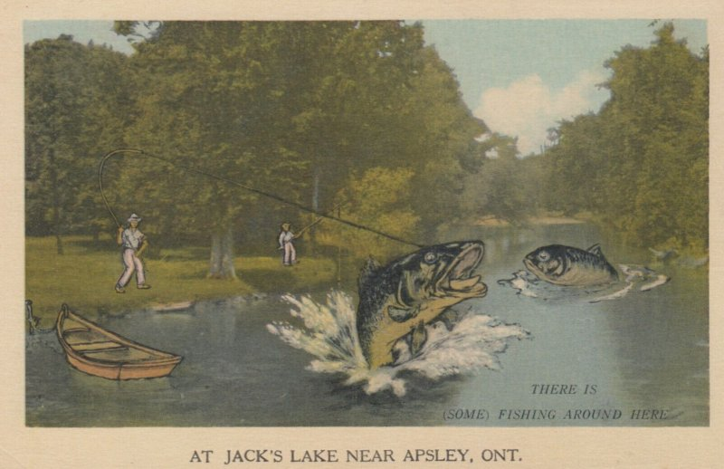 APSLEY , Ontario , Canada , 1930s ; Fishing Exaggeration #8