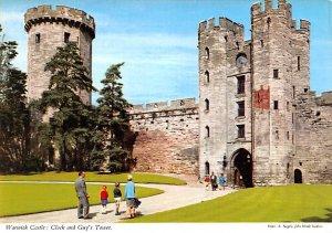 Warwick Castle, Clock and Guys Tower United Kingdom, Great Britain, England U...