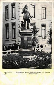 CPA LEEUWARDEN Standbeeld Willem Lodewijk NETHERLANDS (604618)