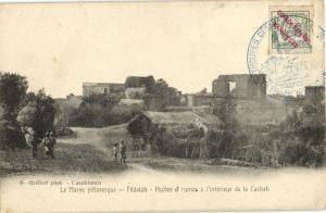 CPA Maroc Fédaalah Huttes et ruines (23899)