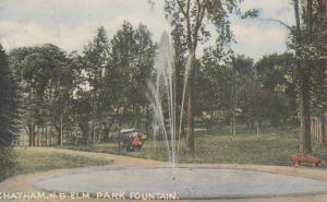 Elm Park Fountain - Chatham NB, New Brunswick, Canada - pm 1907 - DB