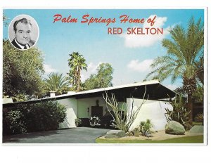 Red Skelton's Palm Springs California Home 4 by 6 card