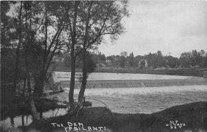 H50/ Ypsilanti Michigan RPPC Postcard c1910 The Dam River 131