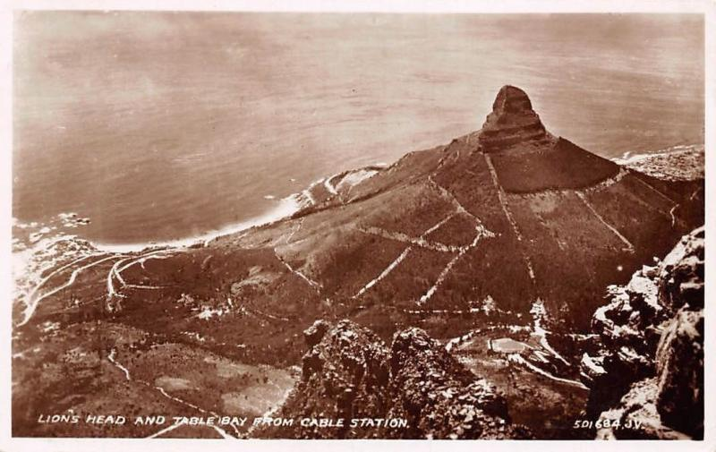 Lion's Head and Table Bay from Cable Station South Africa