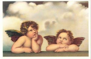 Sistine Madonna Angels Cherubs by Raphael Art Postcard