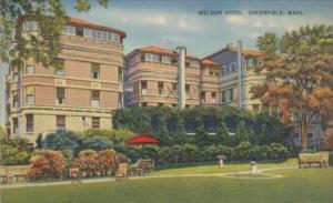 Massachusetts Greennfield The Weldon Hotel 1945