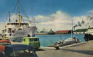 Niigata Harbour Harbor Postcard Japan Boats
