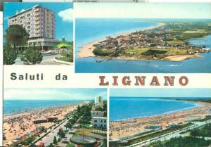 Italy, Saluti da Lignano, 1966 used Postcard