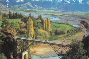 New Zealand Postcard North Canterbury Waiau river bridge image scenic view