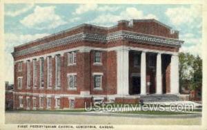 Church Concordia KS Postal Used Unknown