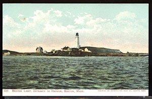 USA Postcard Boston Lighthouse Entrance to Harbor Boston Mass. UDB