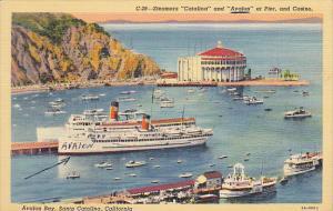 California Avalon Bay Catalina Island Steamers Catalina and Avalon At Pier 19...