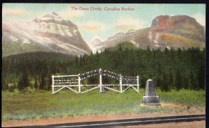 Alberta ~ Canadian Rockies The GREAT DIVIDE pm1947 - Divided Back