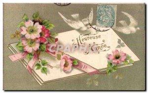 Holidays - Holiday - Happy Year - Happy New Years - Bird - Old Postcard