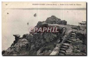 Old Postcard Perros Guirec (Cotes du Nord) Rochers du Chateau Pointe
