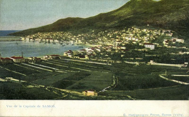 greece, SAMOS, View of the Capital (1910s)