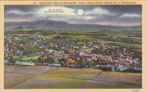Great Smory Mouintains Background Birds Eye View Of Sevierville Tennessee