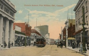 FORT WILLIAM , Ontario , Canada , 1900-10s ; Victoria Avenue
