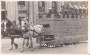 RP: K.of P. Parade, Horse Drawn castle flo, Winnipeg, Manitoba, Canada , PU-1914