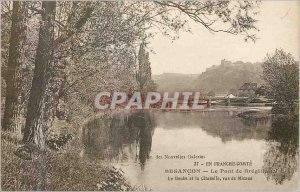 Old Postcard Besancon Franche Comt? The Bregille Bridge Doubs and lea Citadels