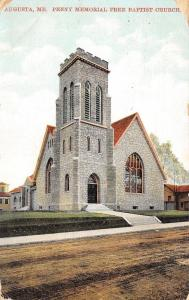 Augusta Maine~Penny Free Will Baptist~Postcard 1909 As Is