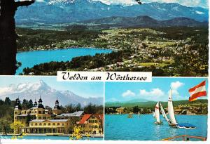 Austria, Velden am Worthersee mit Mittagskogel, Karnten, 1971 used Postcard